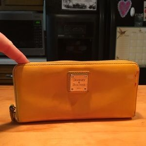 D&B Yellow Patent Leather Clutch Wallet